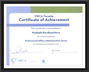 Professional Office Administration Certificate