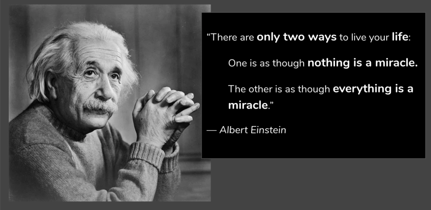 Albert Einstein Quotes Miracle - Daily Quotes